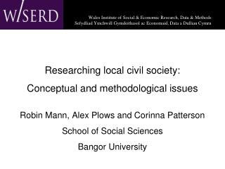 Researching local civil society: Conceptual and methodological issues