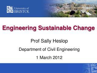 Engineering Sustainable Change
