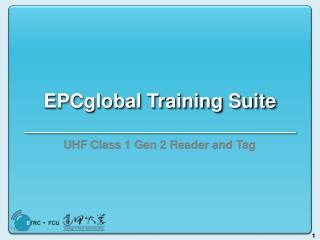 EPCglobal Training Suite