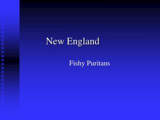New England Fishy Puritans