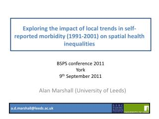 Alan Marshall (University of Leeds)