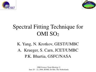 Spectral Fitting Technique for OMI SO 2