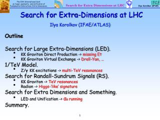 Search for Extra-Dimensions at LHC