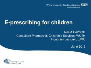 E-prescribing for children