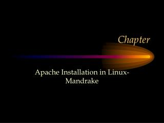 Apache Installation in Linux-Mandrake