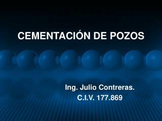 CEMENTACIÓN DE POZOS