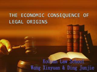 KoGuan Law School Wang Xinyuan & Ding Junjie