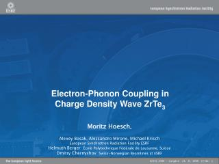Electron-Phonon Coupling in  Charge Density Wave ZrTe 3