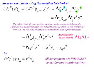 So as an exercise in using this notation let's look at