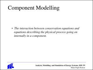 Component Modelling