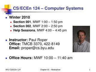 CS/ECEn 124 � Computer Systems