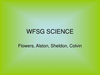 WFSG SCIENCE