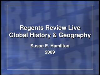 Regents Review Live Global History  Geography