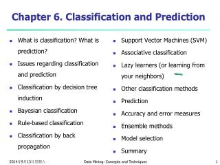 Chapter 6. Classification and Prediction