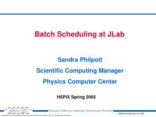 HEPiX Spring 2005