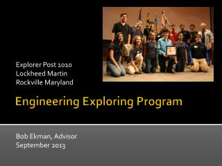 Engineering Exploring Program