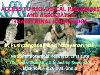 P. Pushpangadan & K. Narayanan Nair National Botanical Research Institute