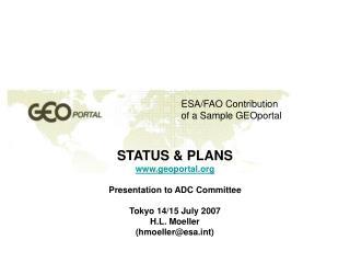 ESA/FAO Contribution of a Sample GEOportal