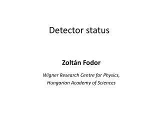 Detector status