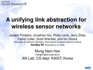 A unifying link abstraction for wireless sensor networks