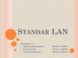 Standar  LAN
