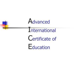 Advanced International Certificate of Education