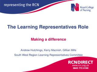 The Learning Representatives Role