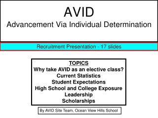 AVID Advancement Via Individual Determination