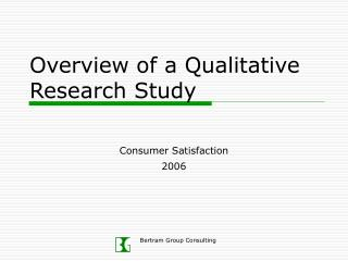 Overview of a Qualitative Research Study