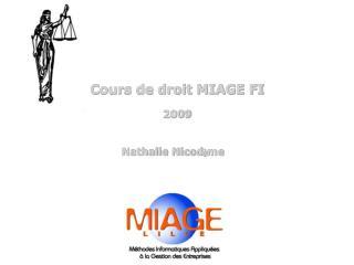 Cours de droit MIAGE FI