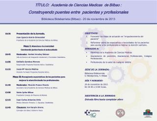 TÍTULO:  Academia de Ciencias Medicas  de Bilbao :