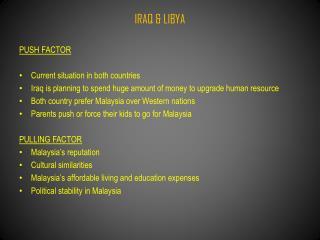 IRAQ & LIBYA