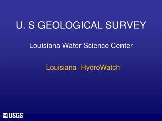 U. S GEOLOGICAL SURVEY