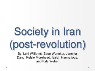 Society in Iran (post-revolution)