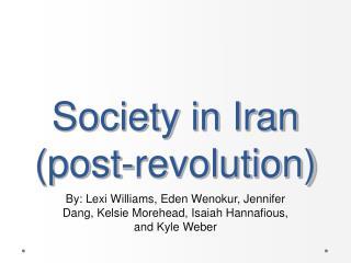 Society in Iran (post-revolution)
