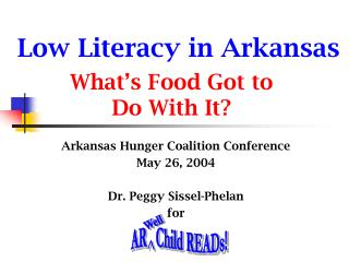 Low Literacy in Arkansas