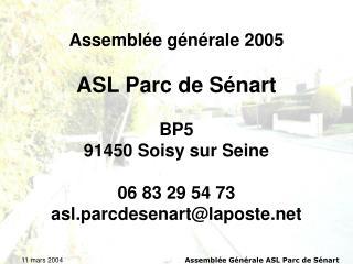 Assemblée générale 2005