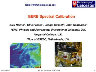 GERB Spectral Calibration