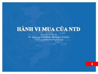 HÀNH VI MUA CỦA NTD