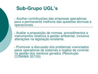 Sub-Grupo UGL's