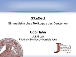 FRaMed Ein medizinisches Textkorpus des Deutschen