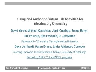 Using and Authoring Virtual Lab Activities for Introductory Chemistry