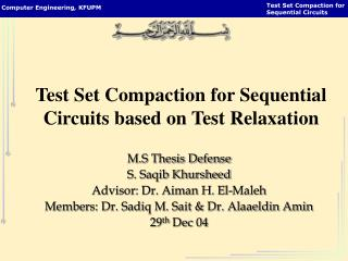 Test Set Compaction for Sequential Circuits based on Test Relaxation