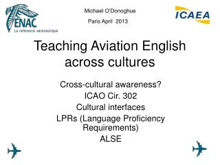 Teaching Aviation English across cultures