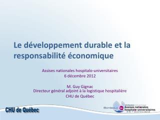 Le développement durable et la responsabilité économique