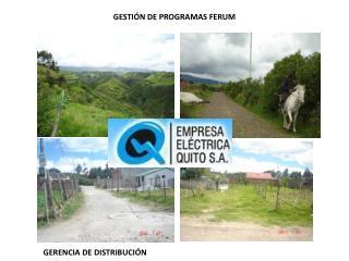 GESTIÓN DE PROGRAMAS FERUM