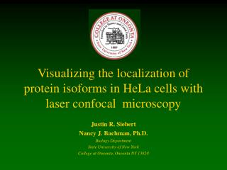 Visualizing the localization of protein isoforms in HeLa cells with laser confocal  microscopy