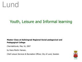 Youth, Leisure and Informal learning