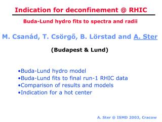 Indication for deconfinement @ RHIC