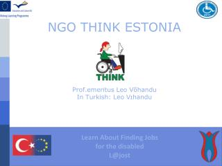 NGO THINK ESTONIA Prof.emeritus Leo Võhandu In Turkish: Leo Vɪhandu